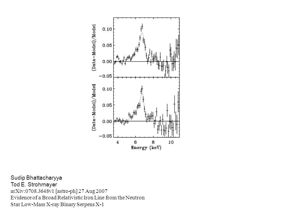 Sudip Bhattacharyya Tod E. Strohmayer. arXiv:0708.3648v1 [astro-ph] 27 Aug 2007.